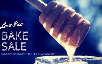 Bake Sale – October 8, 2016